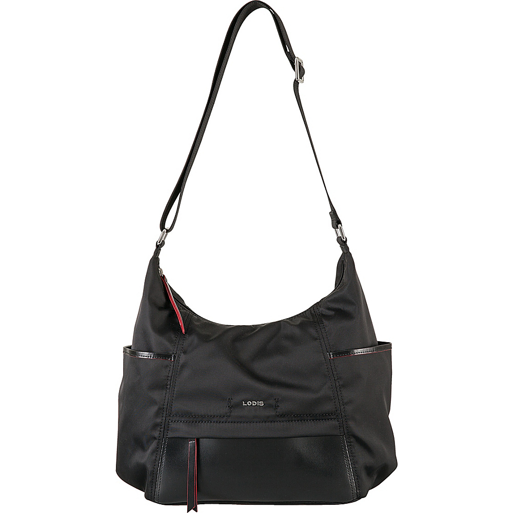 Lodis Kate Nylon Under Lock & Key Olga Hobo Black - Lodis Fabric Handbags - Handbags, Fabric Handbags