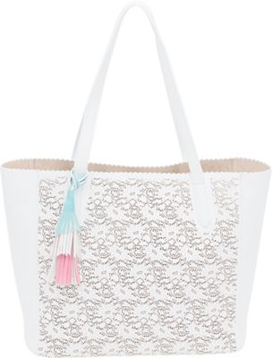 BUCO Large Solid Butterfly Tote White - BUCO Manmade Handbags