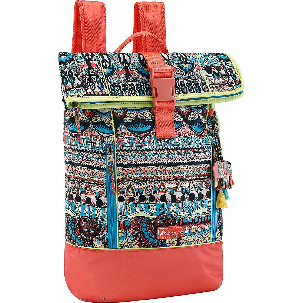 Sakroots Kota Vista Rolltop Backpack Natural One World - Sakroots Laptop Backpacks - Backpacks, Laptop Backpacks