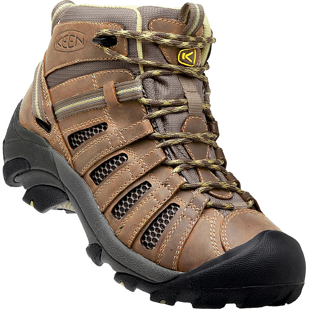 KEEN Womens Voyageur Mid Boot 9.5 - Brindle/Custard - KEEN Womens Footwear - Apparel & Footwear, Women's Footwear