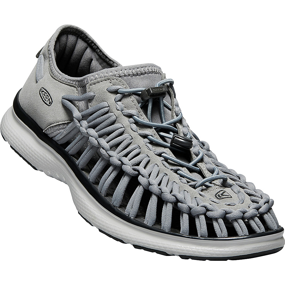 KEEN Mens UNEEK O2 Sandal 9.5 - Steel Grey/Raven - KEEN Mens Footwear - Apparel & Footwear, Men's Footwear