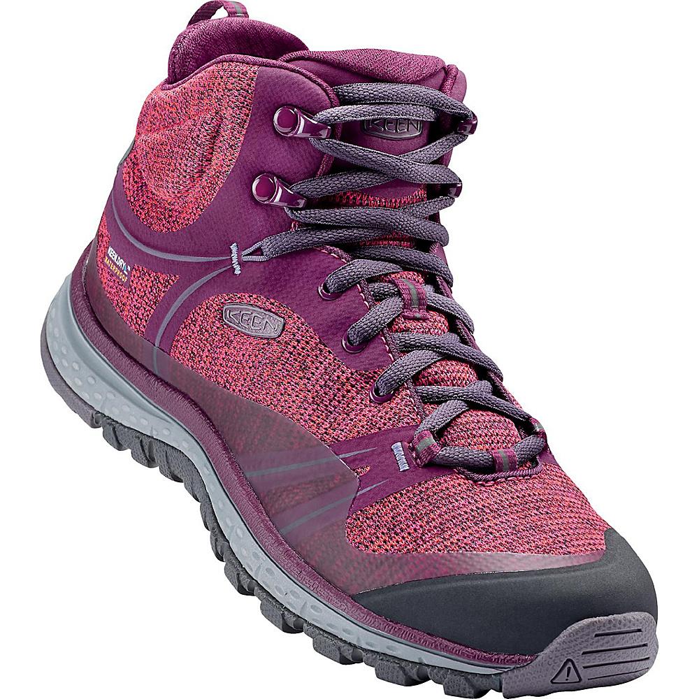 KEEN Womens Terradora Mid Waterproof Hiking Boot 10 - Dark Purple/Purple Sage - KEEN Womens Footwear - Apparel & Footwear, Women's Footwear