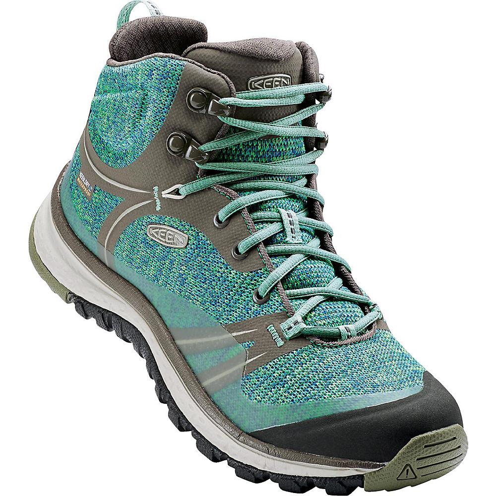 KEEN Womens Terradora Mid Waterproof Hiking Boot 9.5 - Bungee Cord/Malachite - KEEN Womens Footwear - Apparel & Footwear, Women's Footwear