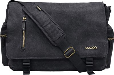 Cocoon 16 inch Urban Adventure Messenger Bag Black - Cocoon Messenger Bags