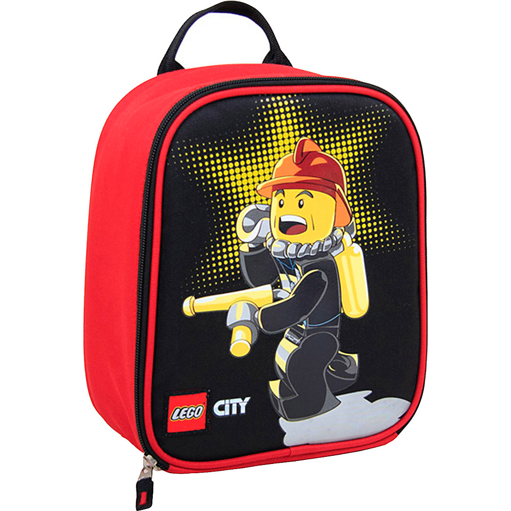 LEGO City Fire Chief Vertical Lunch RED LEGO Travel Coolers