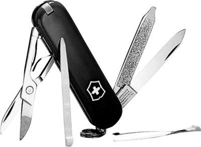 Victorinox Swiss Army Classic SD Swiss Army Knife Black - Victorinox Swiss Army Outdoor Accessories