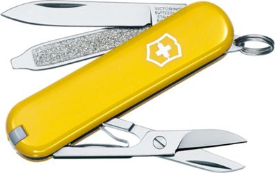 Victorinox Swiss Army Victorinox Swiss Army Classic SD Swiss Army Knife Yellow - Victorinox Swiss Army Outdoor Accessories