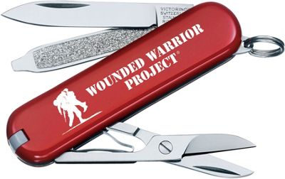 Victorinox Swiss Army Classic SD Wounded Warrior Swiss Army Knife Red - Victorinox Swiss Army Outdoor Accessories 10533023