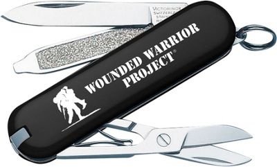 Victorinox Swiss Army Classic SD Wounded Warrior Swiss Army Knife Black - Victorinox Swiss Army Outdoor Accessories