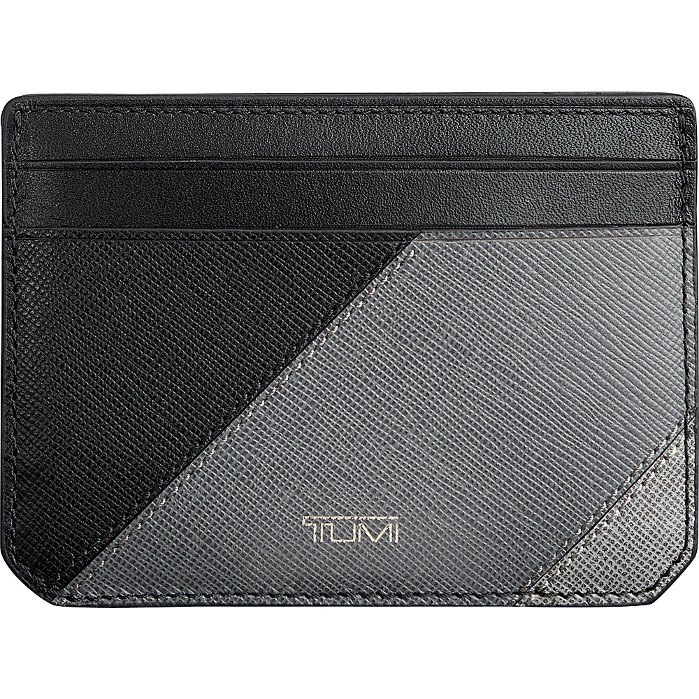 Tumi Mason Slim Card Case ID Grey Pieced Leather - Tumi Mens Wallets - Work Bags & Briefcases, Men's Wallets
