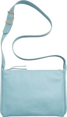 Skagen Anesa Leather Slim Crossbody Sky Blue - Skagen Leather Handbags