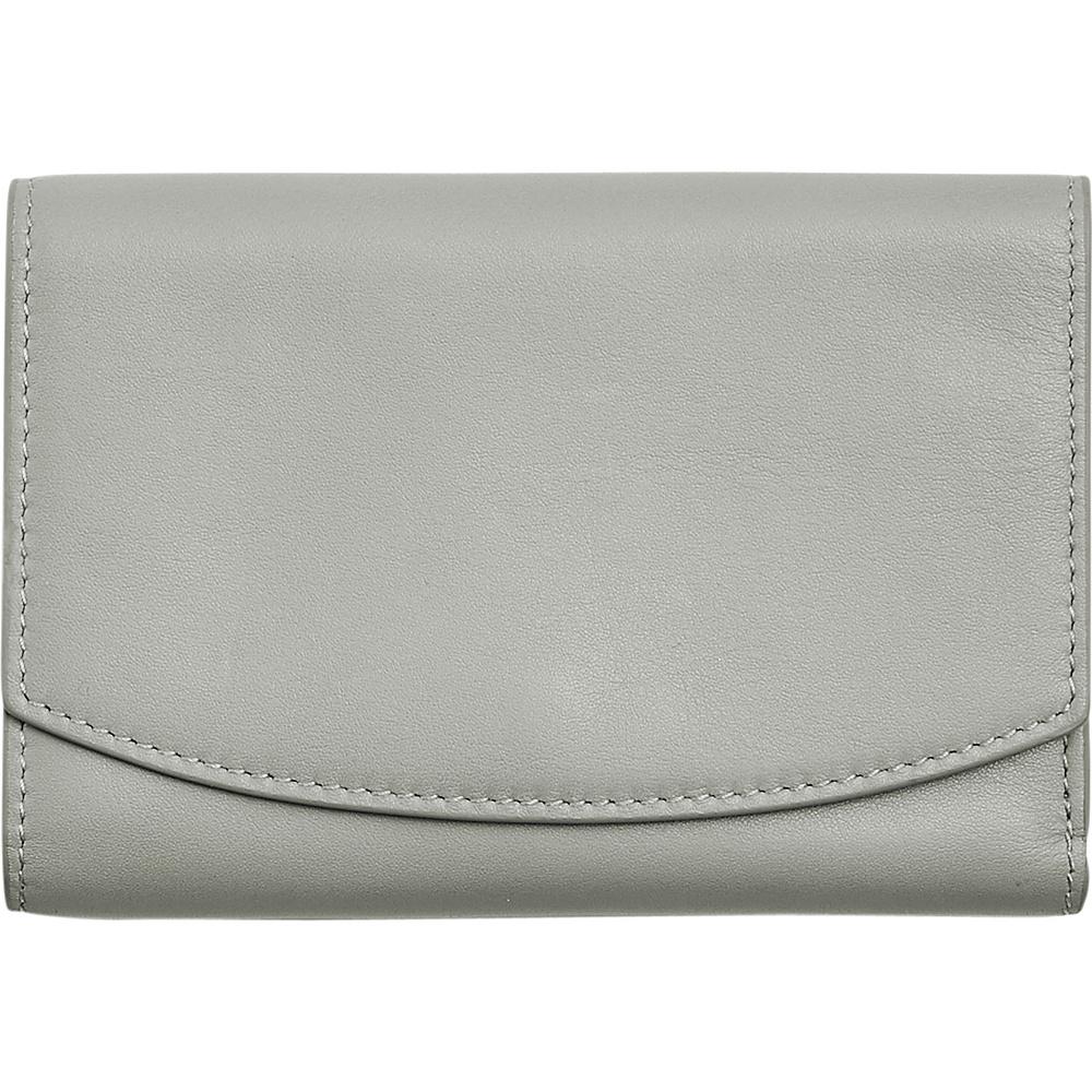 Women's Skagen Compact Leather Flap Wallet - Grey