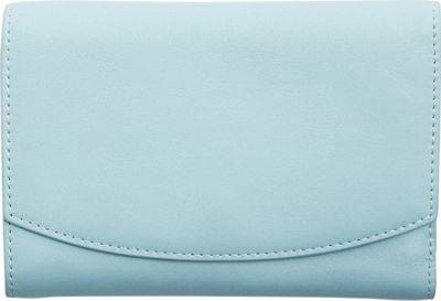 Skagen Compact Leather Flap Wallet Sky Blue - Skagen Designer Handbags