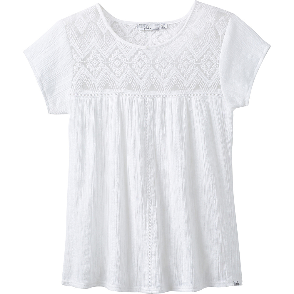 PrAna Kora Top XS - White - PrAna Womens Apparel - Apparel & Footwear, Women's Apparel