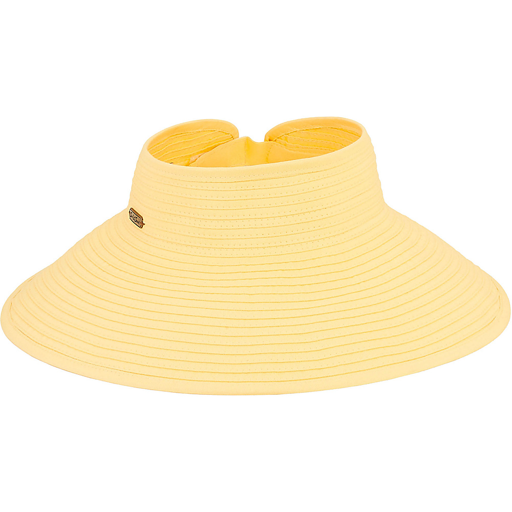 Sun N Sand Roll Up Hat E-Canary Yellow - Sun N Sand Hats - Fashion Accessories, Hats