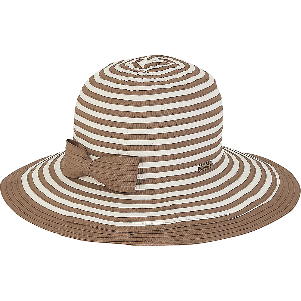 Sun N Sand Ribbons Hat Brown - Sun N Sand Hats - Fashion Accessories, Hats