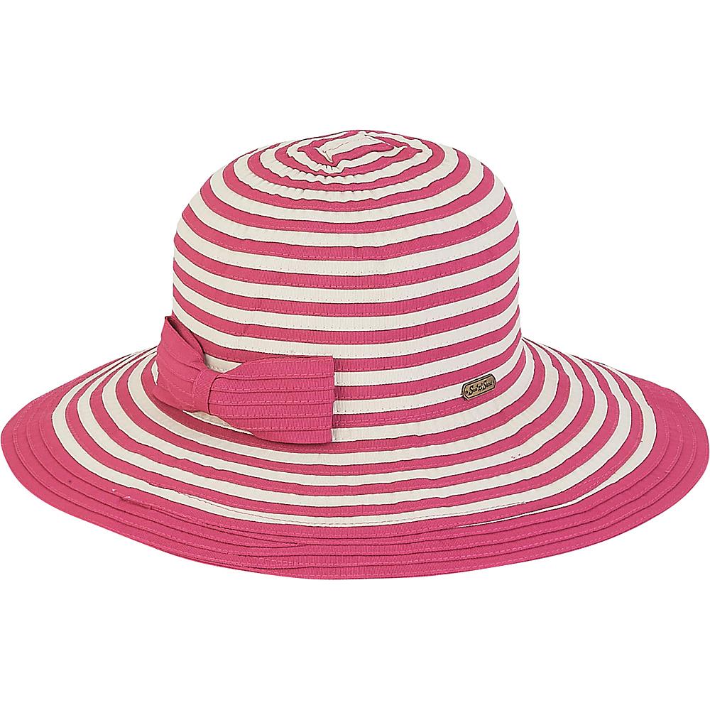 Sun N Sand Ribbons Hat F-Fushia - Sun N Sand Hats - Fashion Accessories, Hats