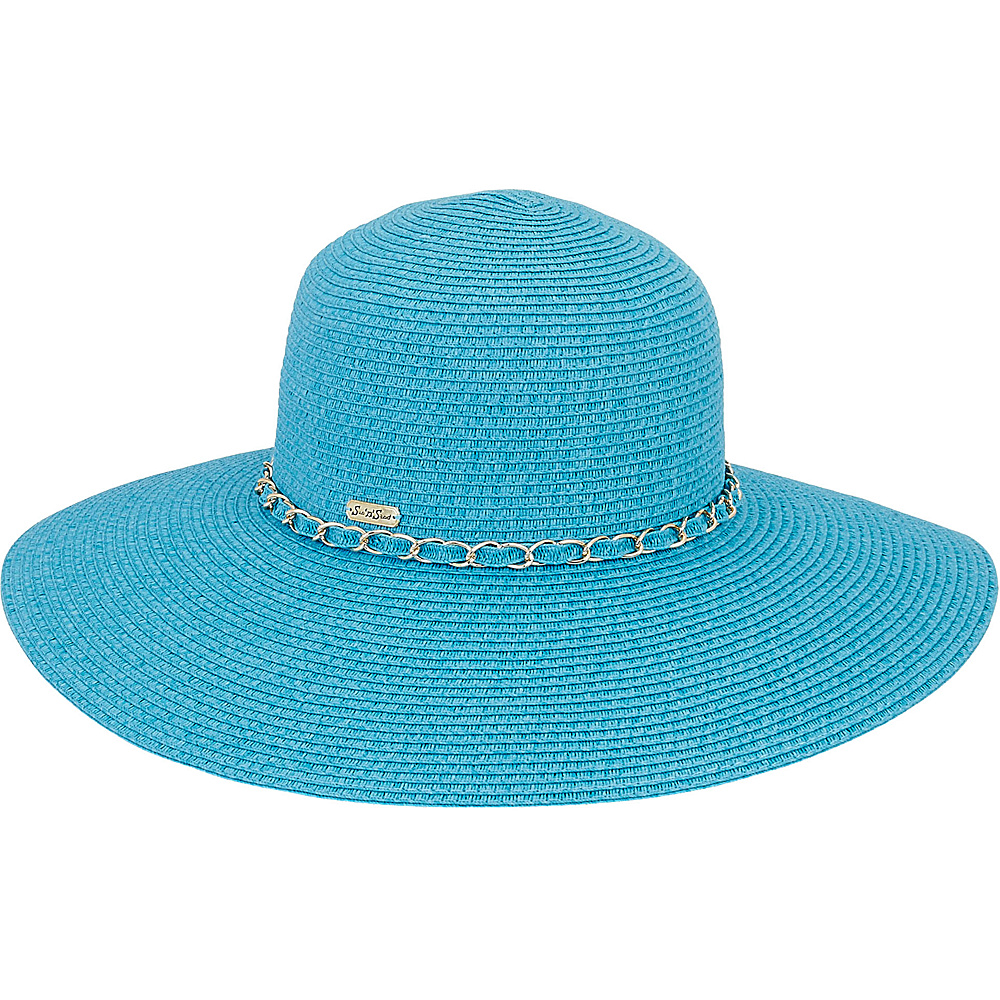 Sun N Sand Paper Braid Hat Turquoise - Sun N Sand Hats/Gloves/Scarves - Fashion Accessories, Hats/Gloves/Scarves