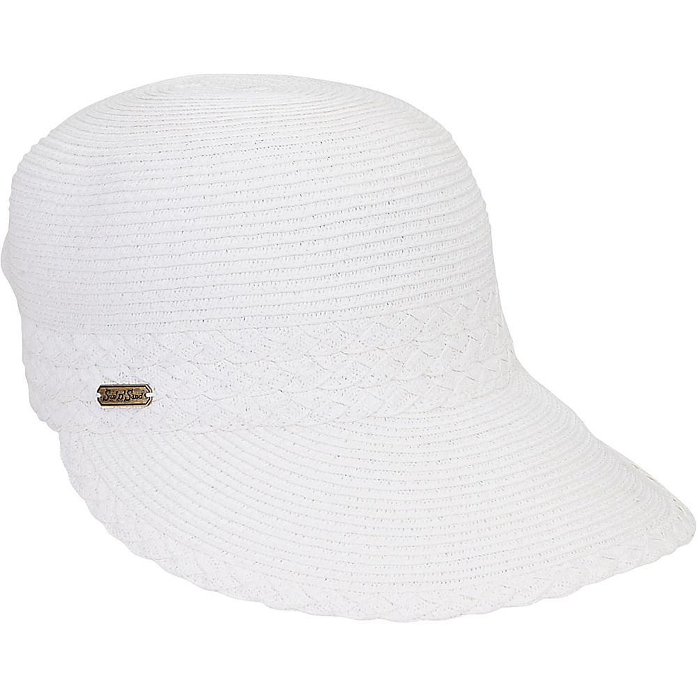 Sun N Sand Backless Hat White - Sun N Sand Hats/Gloves/Scarves - Fashion Accessories, Hats/Gloves/Scarves