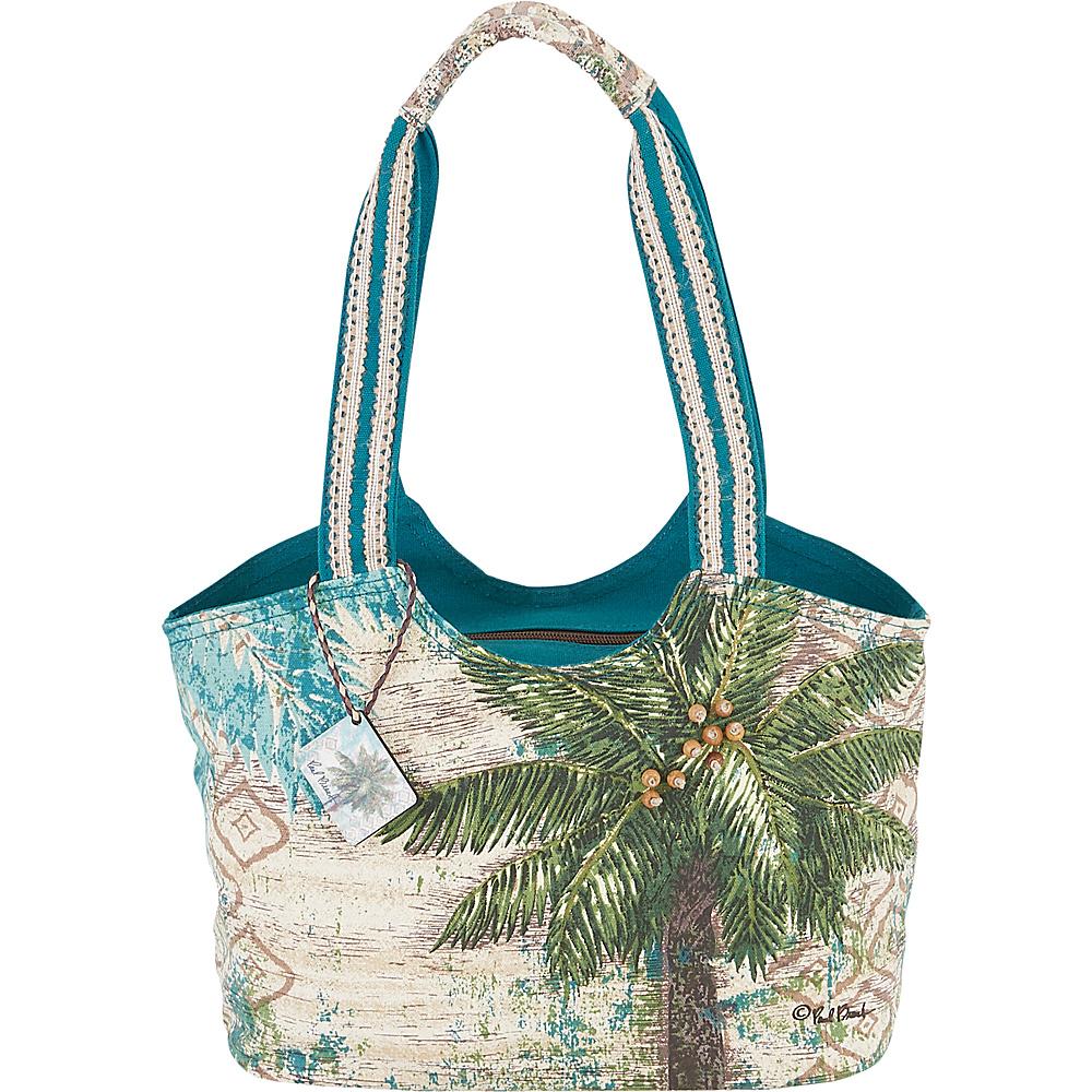 Sun N Sand Paul Brent Artistic Canvas Tote Aqua Escape - Sun N Sand Fabric Handbags - Handbags, Fabric Handbags