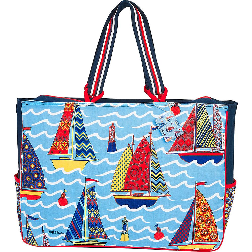 Sun N Sand Paul Brent Artistic Canvas Tote Applique Sail Boat - Sun N Sand Fabric Handbags - Handbags, Fabric Handbags