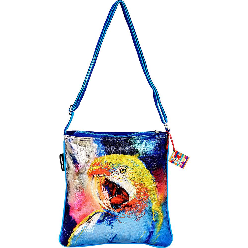 Sun N Sand Parrot Foil Crossbody Parrot - Sun N Sand Fabric Handbags - Handbags, Fabric Handbags