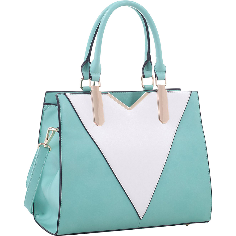 MKF Collection by Mia K. Farrow Sharron Satchel Mint - MKF Collection by Mia K. Farrow Manmade Handbags - Handbags, Manmade Handbags