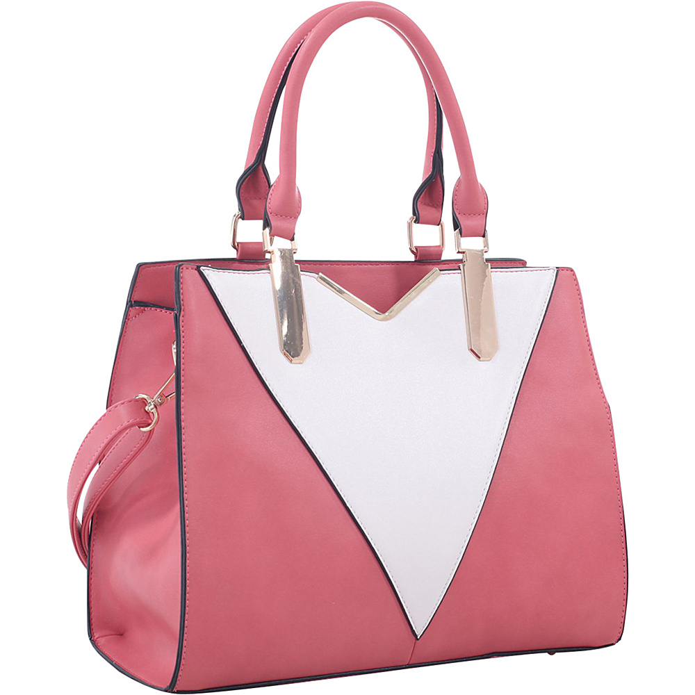 MKF Collection by Mia K. Farrow Sharron Satchel Pink - MKF Collection by Mia K. Farrow Manmade Handbags - Handbags, Manmade Handbags