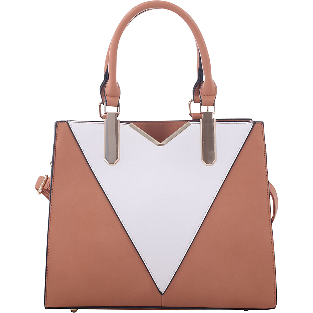 MKF Collection by Mia K. Farrow Sharron Satchel Tan - MKF Collection by Mia K. Farrow Manmade Handbags - Handbags, Manmade Handbags