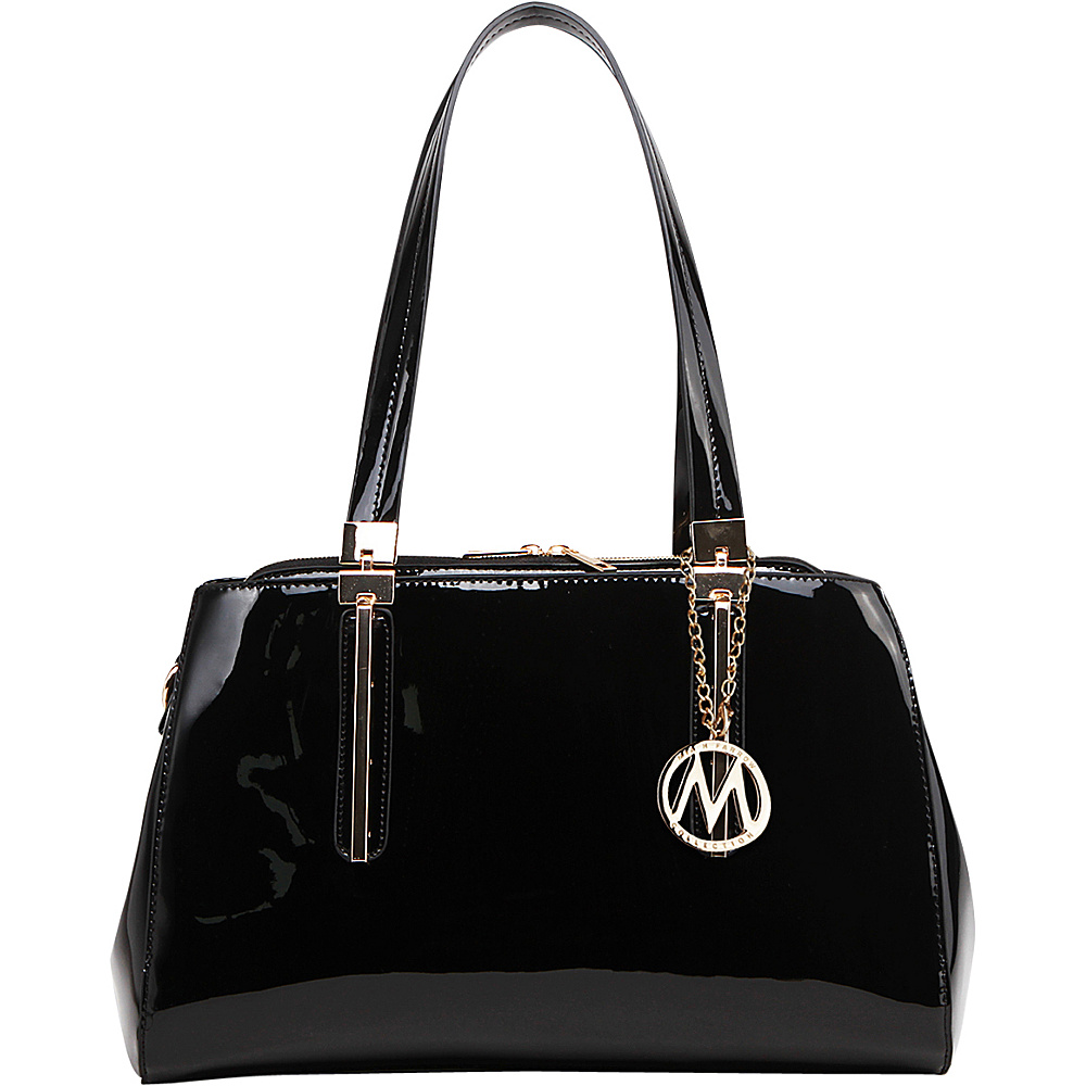 MKF Collection by Mia K. Farrow Abree Patent Satchel Black - MKF Collection by Mia K. Farrow Manmade Handbags - Handbags, Manmade Handbags