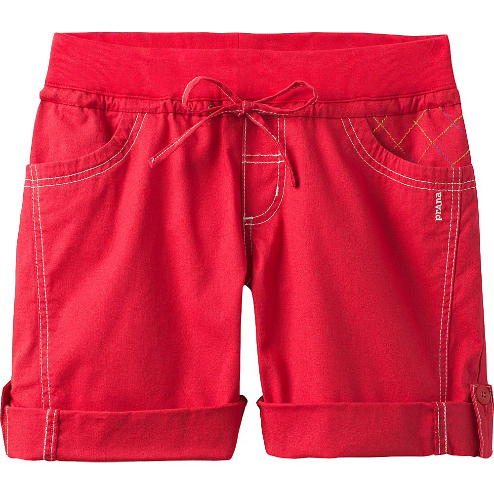 PrAna Avril Short S - Red Ribbon - PrAna Womens Apparel - Apparel & Footwear, Women's Apparel