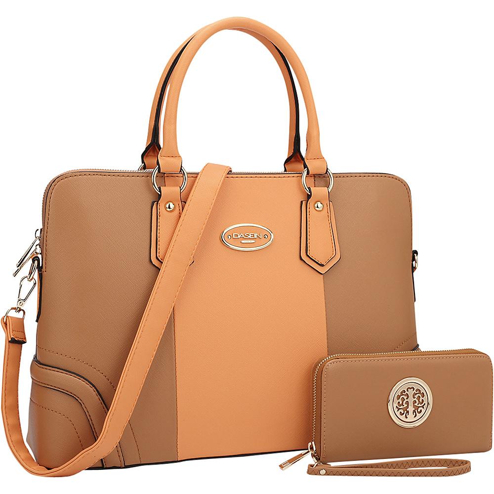 Dasein Slim Briefcase with Matching Wallet Orange/Brown - Dasein Gym Bags - Sports, Gym Bags