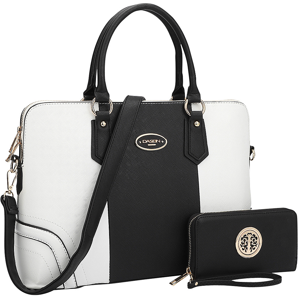 Dasein Slim Briefcase with Matching Wallet Black/White - Dasein Gym Bags - Sports, Gym Bags