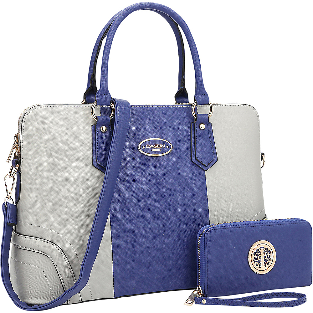 Dasein Slim Briefcase with Matching Wallet Royal Blue/Grey - Dasein Gym Bags - Sports, Gym Bags
