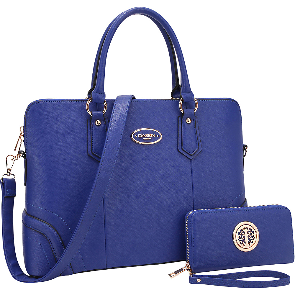Dasein Slim Briefcase with Matching Wallet Royal Blue - Dasein Gym Bags - Sports, Gym Bags