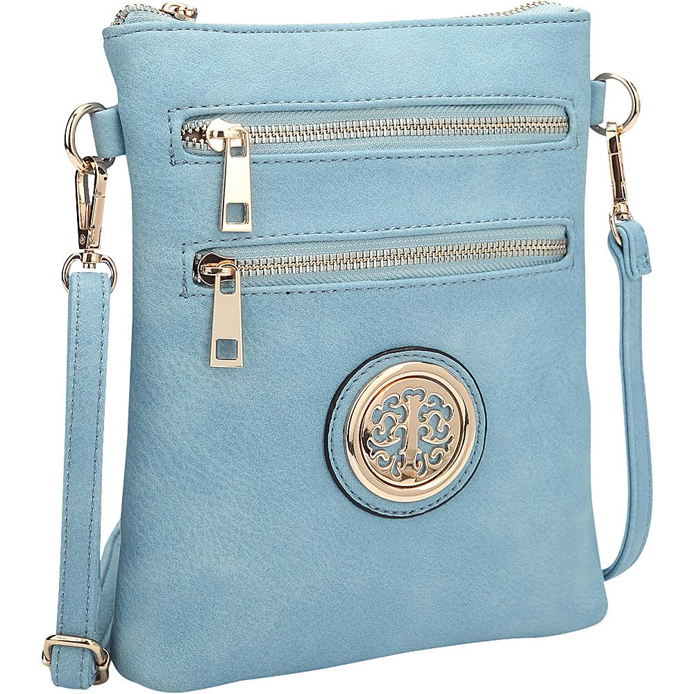 Dasein Gold-Tone Crossbody Blue - Dasein Leather Handbags - Handbags, Leather Handbags
