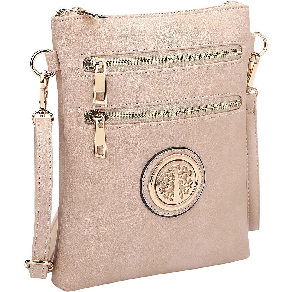 Dasein Gold-Tone Crossbody Pink - Dasein Leather Handbags - Handbags, Leather Handbags