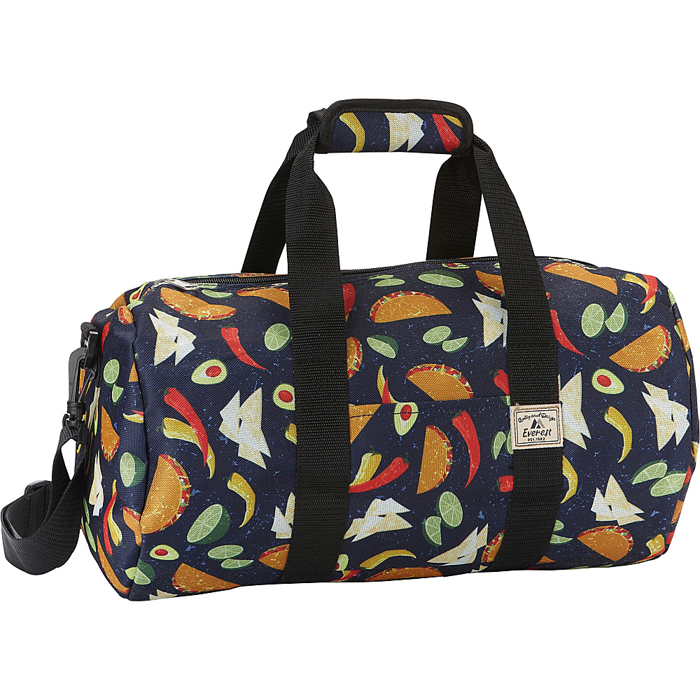 Everest Pattern 16-inch Round Duffel Tacos - Everest Travel Duffels - Duffels, Travel Duffels