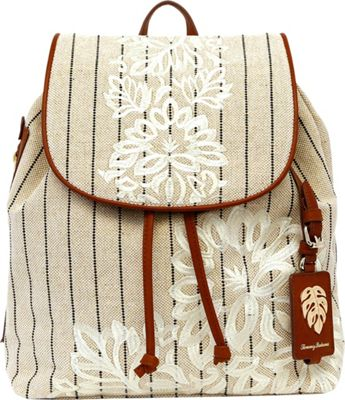 Tommy Bahama Handbags Paradise Flower Backpack Natural - Tommy Bahama Handbags Fabric Handbags