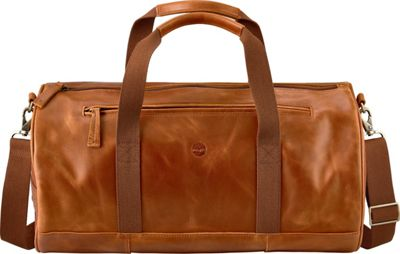 Timberland Wallets Tuckerman Leather Duffel Cognac - Timberland Wallets Travel Duffels