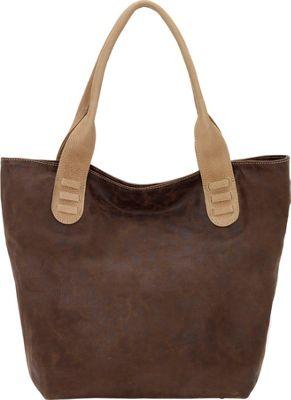 TrueLu The Taylor Tote Chocolate / Beige - TrueLu Leather Handbags