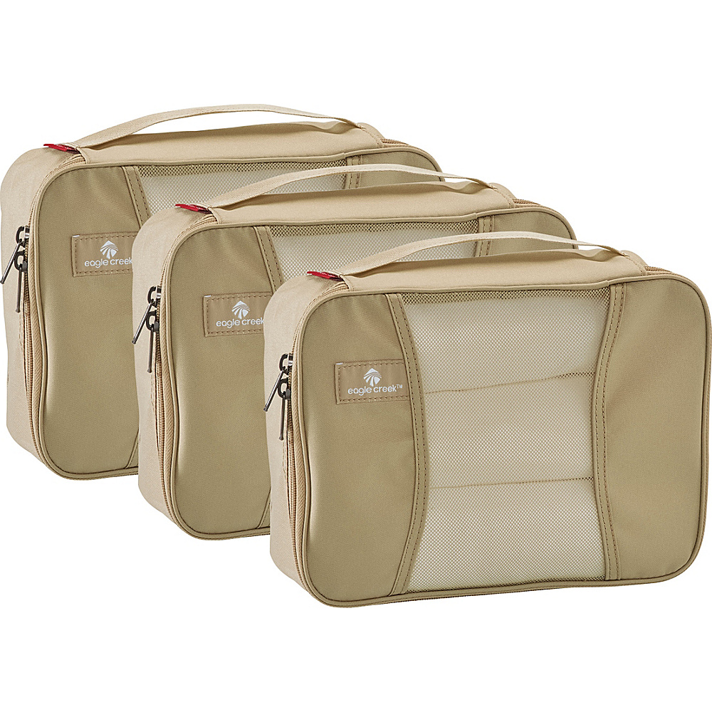 Eagle Creek Pack-It Original Half Cube Set Tan - Eagle Creek Lightweight Packable Expandable Bags - Travel Accessories, Lightweight Packable Expandable Bags