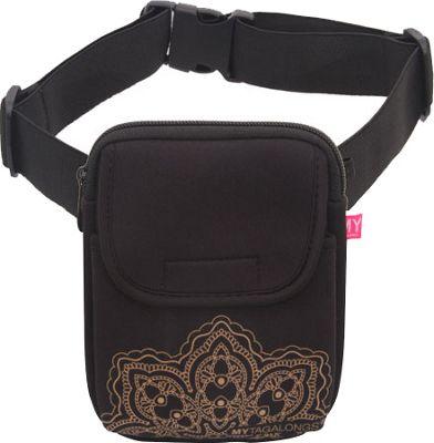 MyTagAlongs Mandala Walking Bag Black/Rose - MyTagAlongs Waist Packs