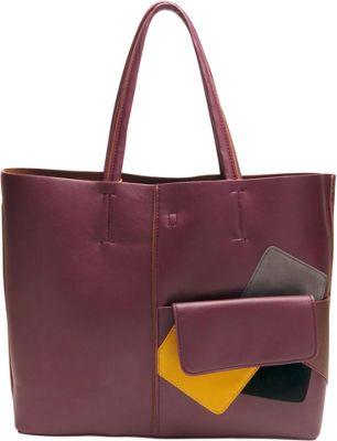 Like Dreams Betty Tote Burgundy - Like Dreams Manmade Handbags
