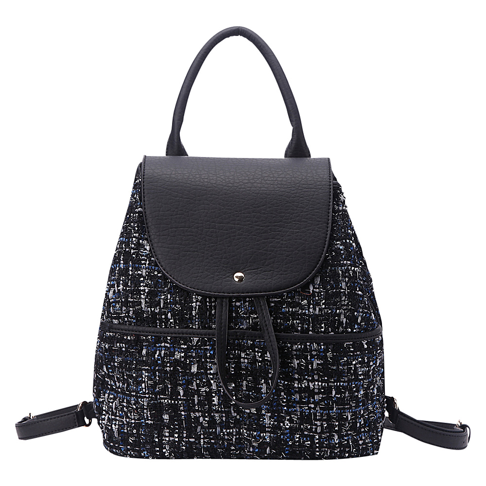 MKF Collection by Mia K. Farrow Bloomsbury Super-Chic Small Barrel Bag Black - MKF Collection by Mia K. Farrow Fabric Handbags - Handbags, Fabric Handbags