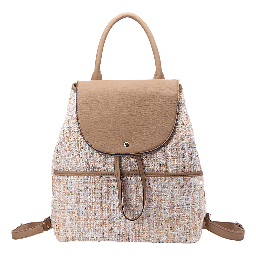 MKF Collection by Mia K. Farrow Bloomsbury Super-Chic Small Barrel Bag Brown - MKF Collection by Mia K. Farrow Fabric Handbags - Handbags, Fabric Handbags