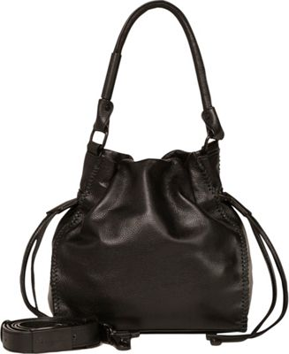 Foley + Corinna Ami Drawstring Black - Foley + Corinna Leather Handbags