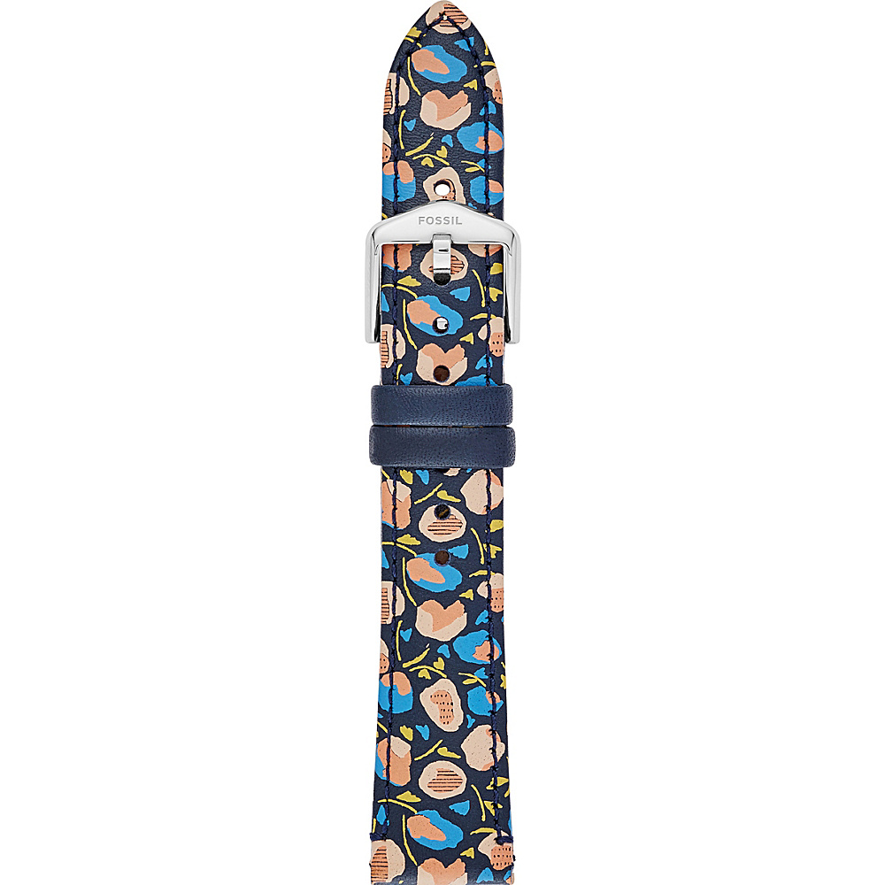 Fossil 18mm Leather Watch Strap Blue Multi - Fossil Watches - Fashion Accessories, Watches