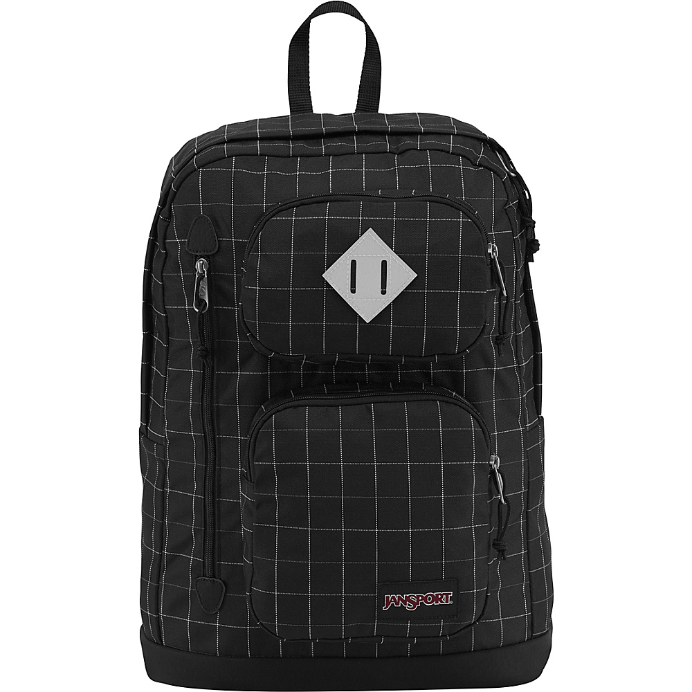 JanSport Houston Laptop Backpack- Sale Colors Black Reflective Grid - JanSport Business & Laptop Backpacks