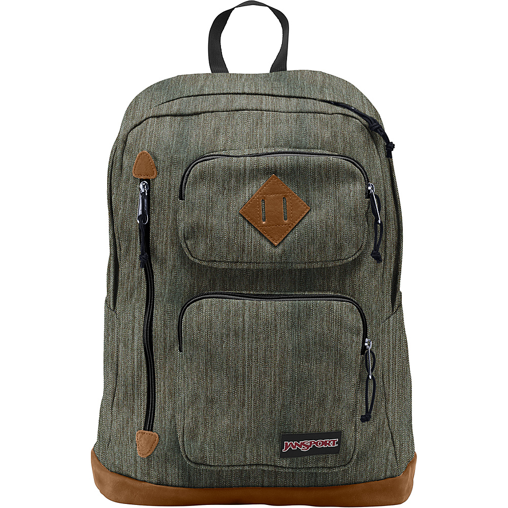 JanSport Houston Laptop Backpack- Sale Colors Army Green Melange - JanSport Business & Laptop Backpacks